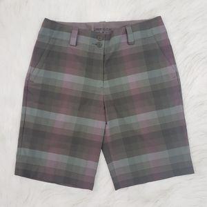 Nike Golf Dri-Fit Plaid Bermuda Shorts